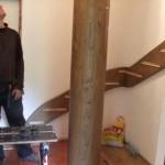 Montáž dřevěných schodů