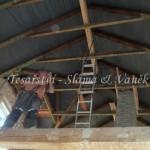 Montáž stropních trámů